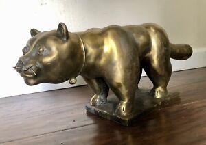 """Modern Art Bronze - Fernando Botero """"Fat Cat"""""""