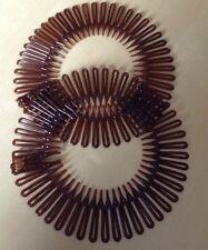 Un Gemello Confezione Di Marrone Zig Zag A Dente Squalo Testa/Fascia Per Capelli