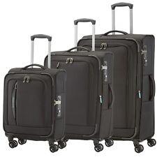 Travelite CROSSLITE Schwarz 3 tlg 55 67 77cm Stoffkoffer TSA Reisetrolley LEICHT