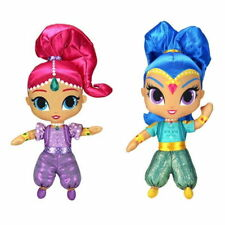 """2PC Arrived SHIMMER AND SHINE Pink & Blue Genies - 12"""" Plush Stuffed Toy Dolls"""