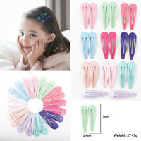 20pcs 5CM Wholesale Bulk Girls Baby Kids Hair Clips Snap Slides Close Hairpin