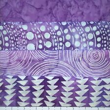 LOT OF (4) 1 YARD CUTS OF 100% COTTON HANDMADE QUILTING BATIK FABRIC PURPLE 029