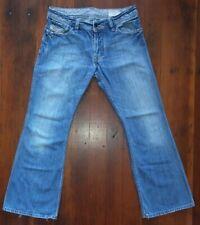 Diesel ZAF 008BC Wide Flare Button Fly Jeans Men Size 31(32)x29 Vintage FASTSHIP