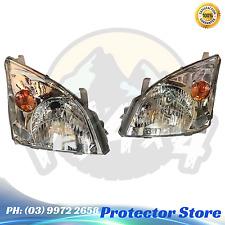 Headlights to suit Toyota Landcruiser Prado 120 Series 2002-2009 Set Chrome