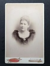 Rare Victorian Cabinet Card Mowll & Morrison: Liverpool: 1892: Lady Evening Gown