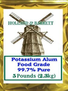 Holland and Barrett Potassium Alum, Food Grade 99.7% Pure 5 lb