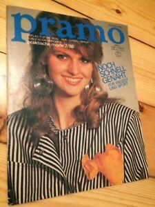 PRAMO 7/1988 Schnittmuster Pattern Sheet Pullover Nähen Kleider Umstandsmode