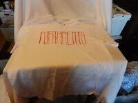 Men's Portamento Red Logo on White T-shirt Medium