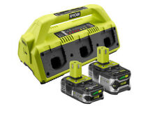 Ryobi 18 Volt ONE+ SuperCharger and 2 Lithium Ion Batteries Kit 30min charge USB