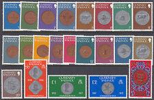 Guernsey 1979-83 Coinage & Seal Definitives set UM SG177-198 Cat £19.00