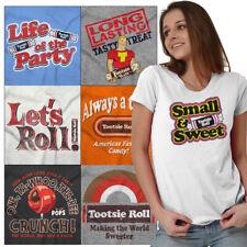 Licensed Tootsie Roll Tees Candy T-Shirts For Ladies Womens Graphic Logo Tshirts