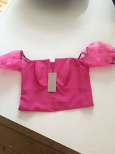 Coast pink organza top size 10