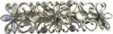 Silver Diamante Flower & Diamond Hair Barrette