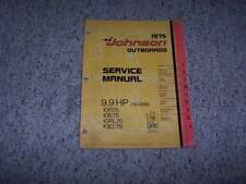 1975 Johnson 9.9 HP Models Outboard Motor Shop Service Repair Technical Manual