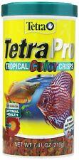 TetraPro Tropical Color Crisps~Fish Food w Natural Color Enhancers FLOATING FOOD
