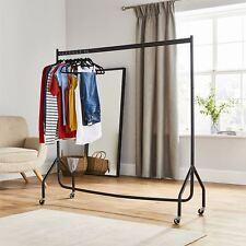Heavy Duty 5ft Clothes Rail Hanging Garment Rail Black Display Rack Stand