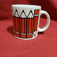 Vtg Waechtersbach Collectible White Coffee Cup Mug West Germany Pencils