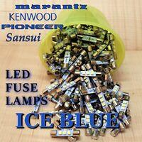 (14) ICE BLUE LED 8v LED Fuse Lamp For Vintage Stereo Receivers  FREE SHIP