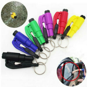 Comforly 3 in 1 Car Life Keychain Emergency Safety Hammers Window Glass Breakers
