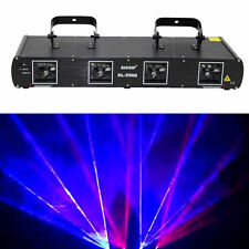 SHINP 4-Lens 900mW Red+Blue Laser Light Projector Stage Lighting Disco DL-55RB