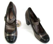 DI DONNA Chaussures babies bride cuir marron & noir 38 NEUF