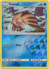 Swinub 18/111 Sun & Moon Crimson Invasion Reverse Holo Perfect Mint! Pokemon