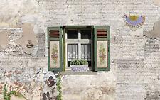 Tapete Puppenstube Puppenhaus 096 selbstklebend Ziegelstein Klinker Fenster