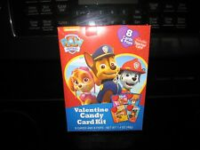 Paw Patrol Valentine Candy Card Kit~ 8 Cards And 8 Pops~New