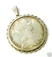 Münzanhänger Silberanhänger Maria Theresia Taler 835er Silber Fassung Anhänger