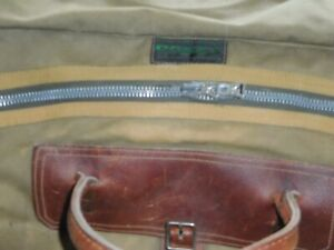 Vintage Gokey Large Size Duffle Bag, Canvas, Leather, Made in MN., USA
