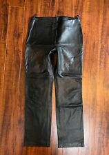 Vintage 1990s Designer Brandon Thomas Motorcycle Rocker Leather Pants sz 10