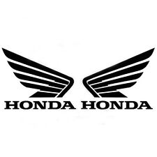 Honda Sticker Black Motorcycle Wing Decal Bike Fuel Gas Tank Logo Emblem Moto 2X