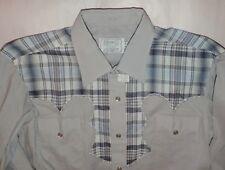 Vintage Men's H Bar C Gray Western Shirt California Ranchwear Pearl Snap M 34 NM