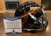 Chris Weinke Signed Florida State Seminoles Black Mini Helmet Heisman Beckett