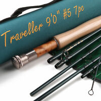 Maxcatch Fly Fishing Rod Traveller Combo 9FT 5/6/7/8 Weight 7 Pieces Fast Action