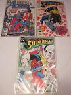 3 Superman Comics DC Byrne Kesel Giordano 1987 Lost Love Teen Titans Bagged