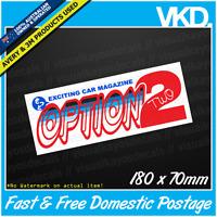 Option 2 Sticker / Decal - JDM DRIFT CLUB JAPAN TURBO VINYL CAR SPARKLE RARE