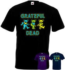 Grateful Dead Dancing Bears v1 t-shirt black navy purple all sizes S-5XL