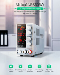 Minleaf DC60V 300W Adjustable Power Supply Precision Variable Digital Lab Test