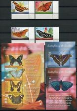 DOMINICA 2009 Schmetterlinge Butterflies Farfalla Mariposa 3947-54 * Bl.538-539