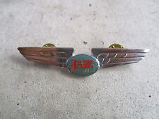 vintage 1990 Jazz Air Transport International Airlines Pilot Wings Pin
