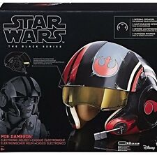 2017 The Last Jedi Poe Dameron Electronic Helmet Star Wars Black Series Presale