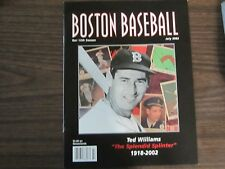 Ted Williams commemorative program 7-22-02 from Ted Williams day Boston Red Sox