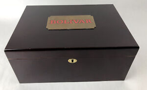 Extremely Rare Authentic Wood Bolivar Cigar Humidor - Free Shipping via FedEx
