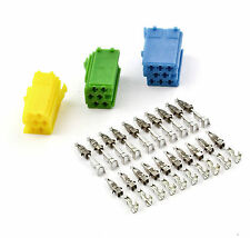 Autoradio MINI ISO Stecker Adapter + 20 Kontakte für AUDI SEAT SKODA VW OPEL