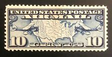 US, Scott #C7, Airmail, Planes, Map
