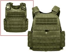 OD Green Military Police Security Molle Tactical Plate Carrier Vest 8924