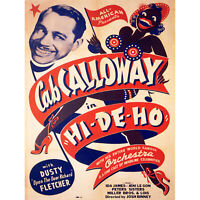 MOVIE FILM HI-DE-HO CAB CALLOWAY MUSICAL SHORT FINE ART PRINT POSTER 30X40 CM 12