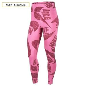 NIKE Sportswear Women's Printed Leggings in COSMIC FUCHSIA Size M /UK12