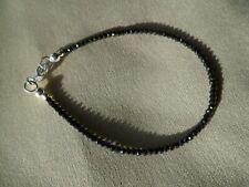 gold //8555 Feines Mondstein Armband facettiert 2 mm weiß